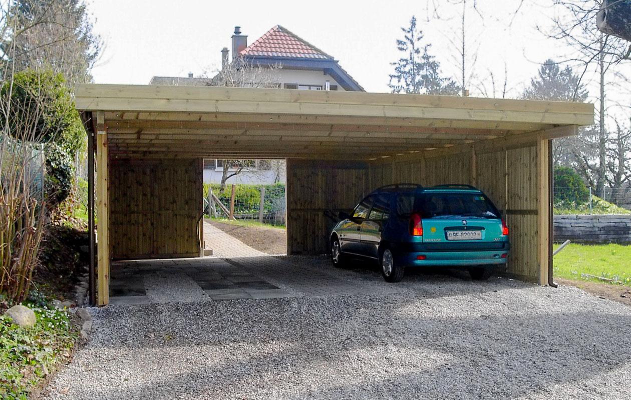 Carport bois suisse for Garage voiture orly